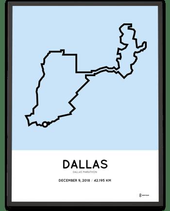 2018 Dallas marathon course poster