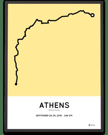 2018 Spartathlon course print