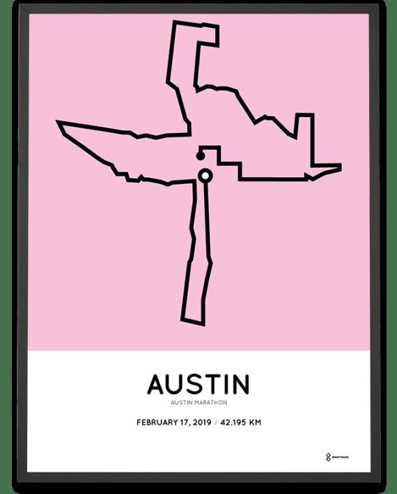 2019 Austin marathon course poster