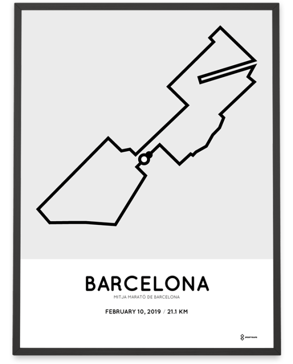 2019 Barcelona half marathon course print