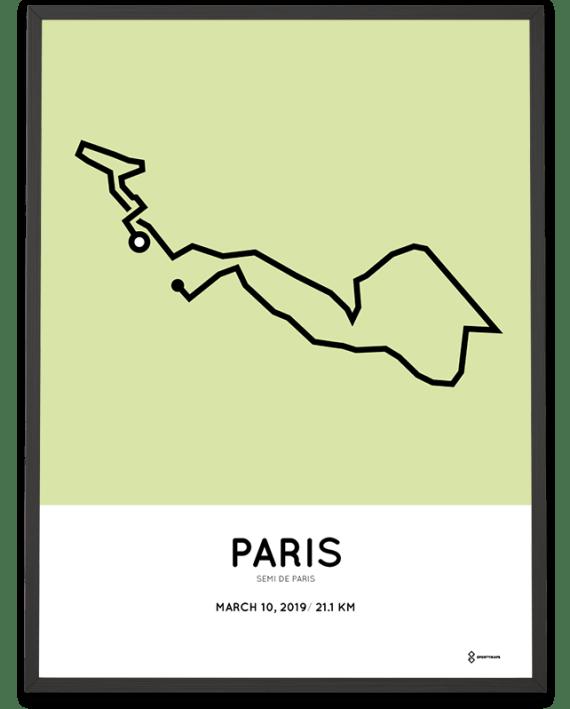 2019 Semi de Paris parcours poster