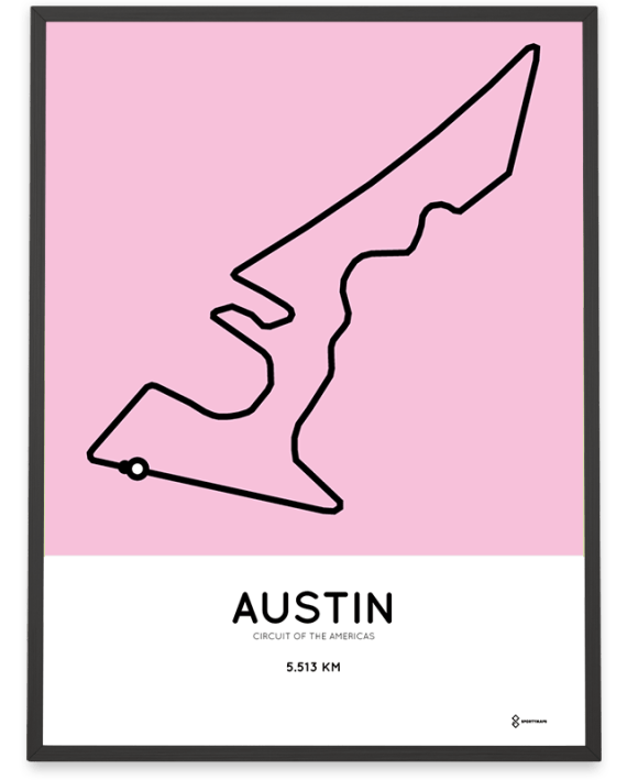 Circuit of the Americas racetrack print