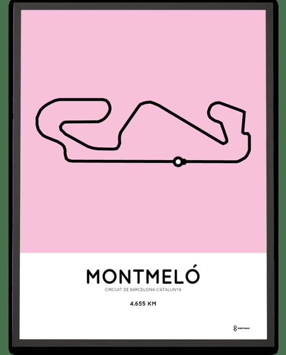 Circuit de Barcelona-Catalunya racetrack print