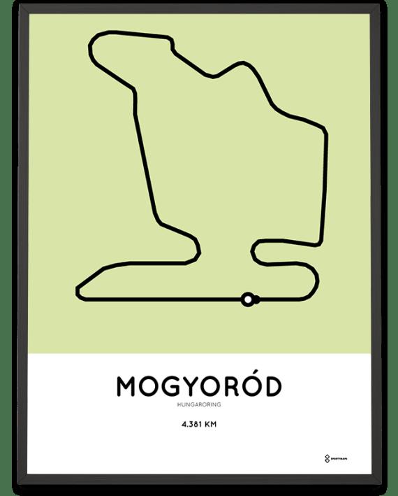 Hungaroring F1 racetrack poster