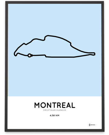 Circuit Gilles Villeneuve racetrack print
