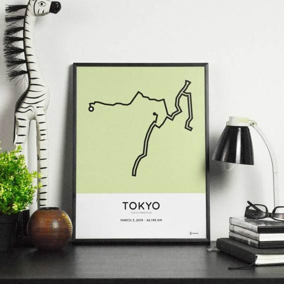 2019 tokyo marathon sportymaps routemap print
