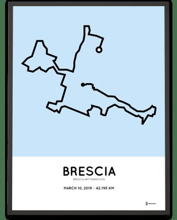 2019 Brescia Art marathon course poster