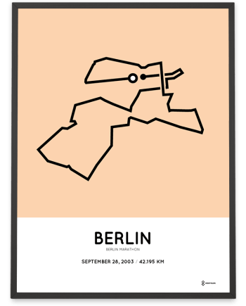 2003 Berlin marathon course poster