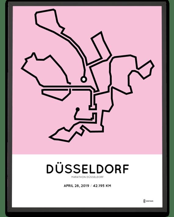 2019 Dusseldorf marathon route parcours poster