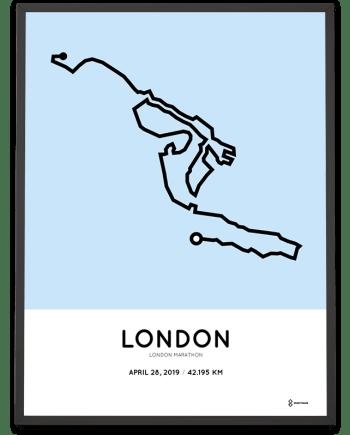 2019 London marathon course poster
