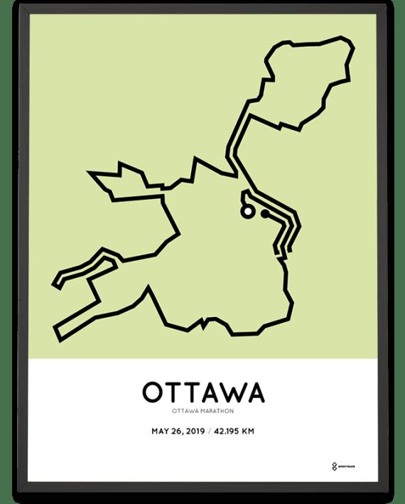 2019 Ottawa marathon course poster