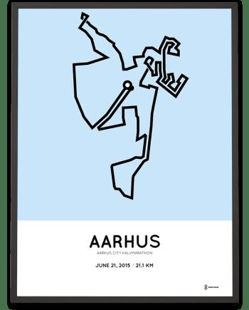 2015 Aarhus halvmarathon ruten poster