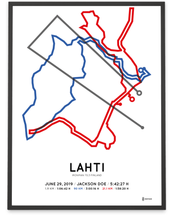 2019 Ironman 70.3 Finland coursemap poster