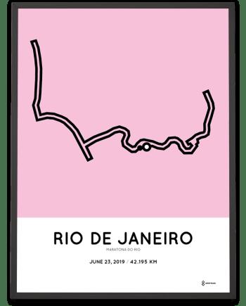 2019 maratona do rio course poster sportymaps