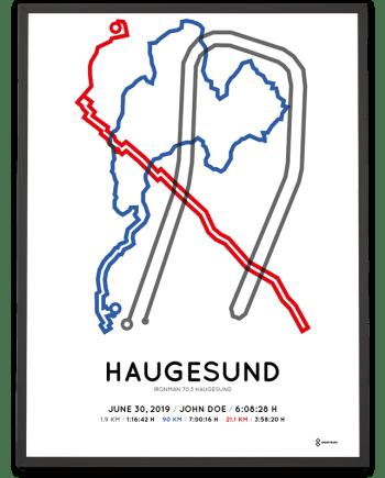 2019 Ironman 70.3 Haugesund course poster