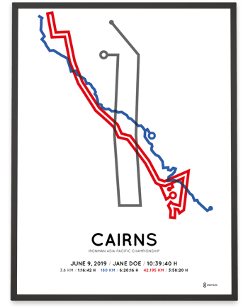 2019 Ironman Cairns minimalist course print