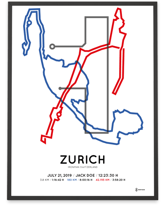 2019 Ironman Zurich course poster