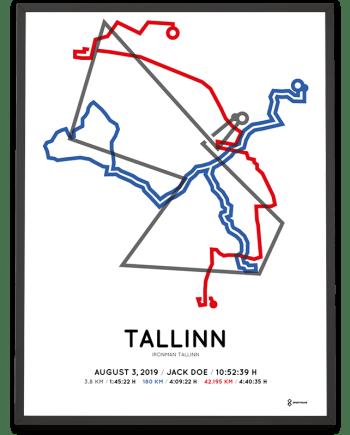 2019 Ironman Tallinn course poster