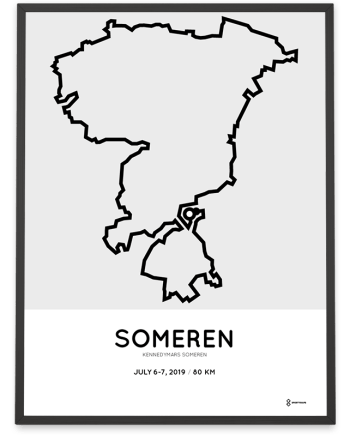 2019 Kennedymars Someren natuurroute parcours poster