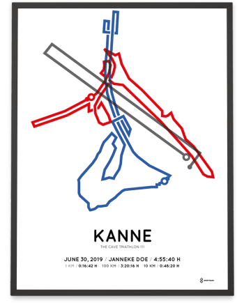 2019 the cave triathlon 111 kanne course poster