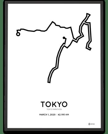 2020 Tokyo marathon sportymaps course poster