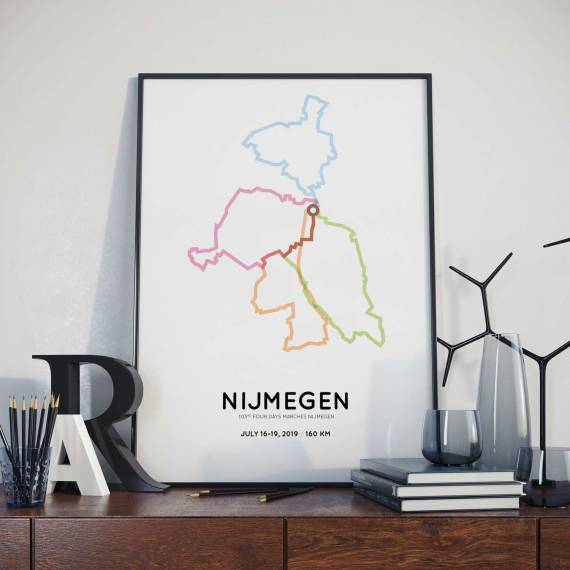 2019 Four Days Marches 160km routemap poster