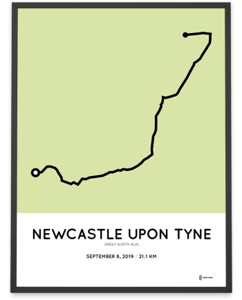 2019 Great North run coursemap poster