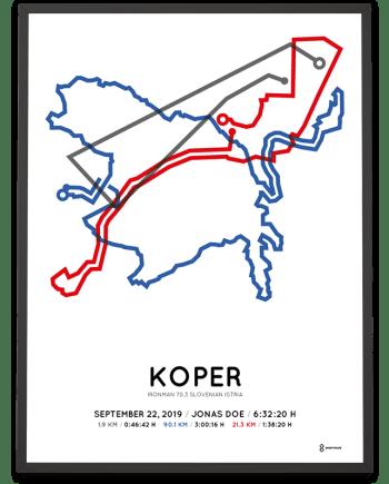2019 Ironman 70.3 Slovenian Istria course poster