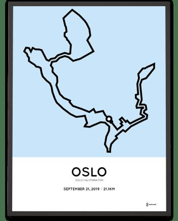 2019 Oslo halvmaraton course poster