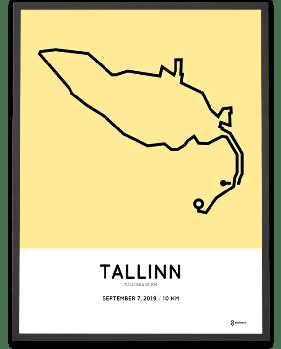 2019 Tallinna 10km course poster