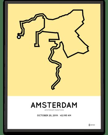2019 Amsterdam marathon sportymaps print