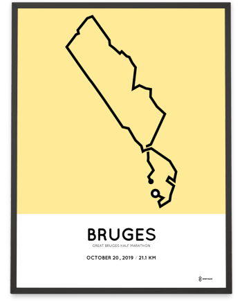 2019 Great Bruges half marathon parcours poster