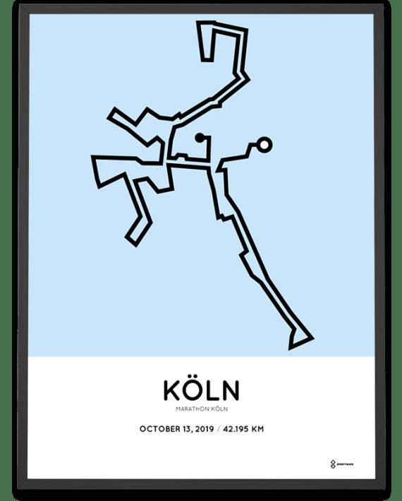 2019 Collogne marathon course poster