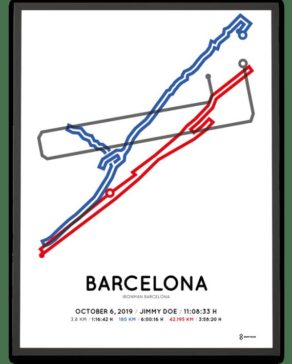 2019 Ironman Barcelona routemap poster