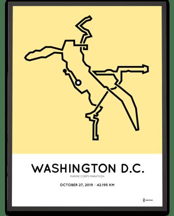 2019 Marine Corps marathon course poster