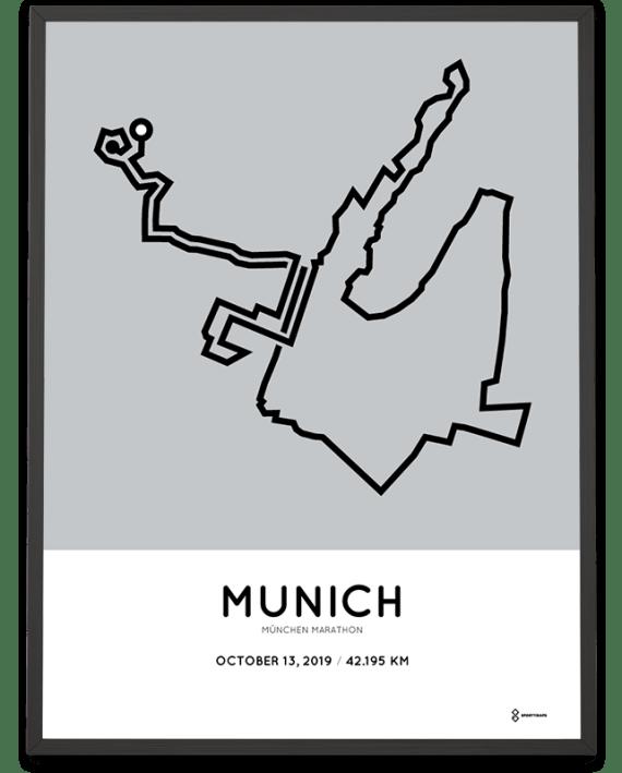 2019 Munich marathon course poster
