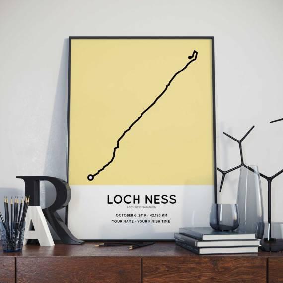 2019 Loch Ness marathon Sportymaps course poster