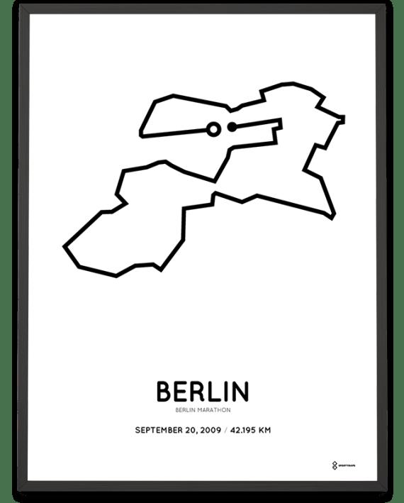 2009 Berlin marathon strecke poster