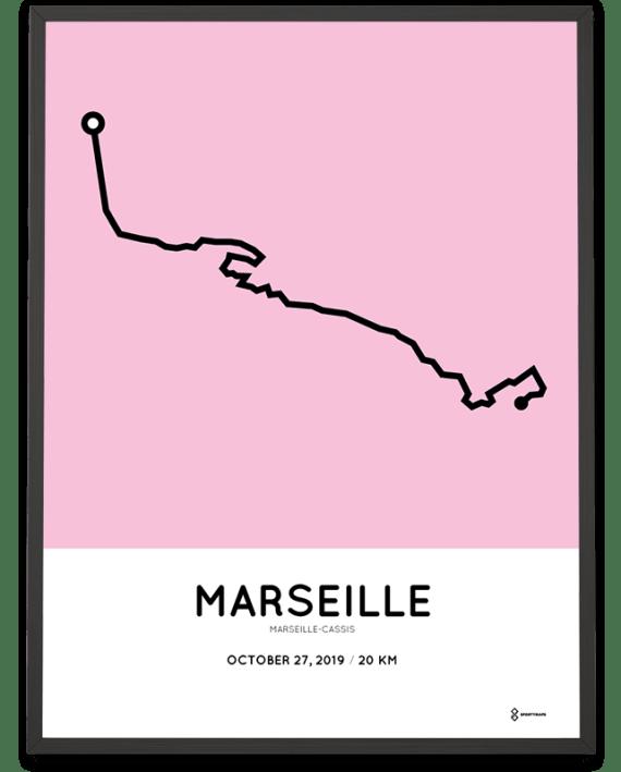 2019 Marseille Cassis parcours print
