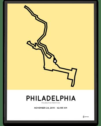 2019 Philadelphia marathon course poster