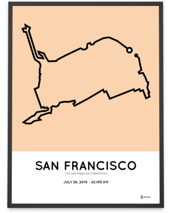 2019 San Francisco marathoner map print