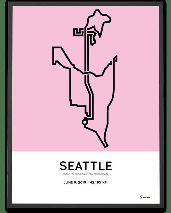 2019 RNR Seattle marathon course poster