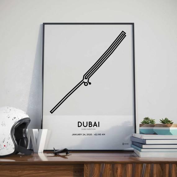 2020 Duabi marathon routemap print