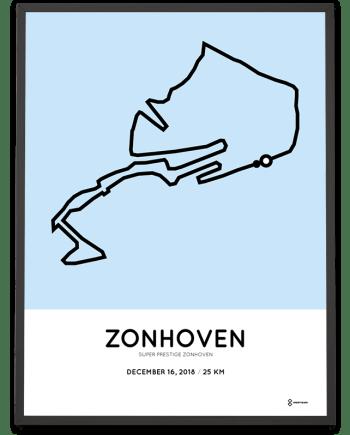 2018 Superprestige Zonhoven parcours poster