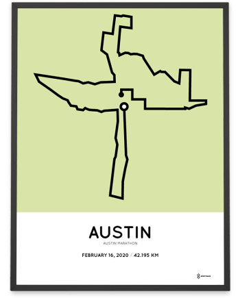 2020 Austin marathon course poster