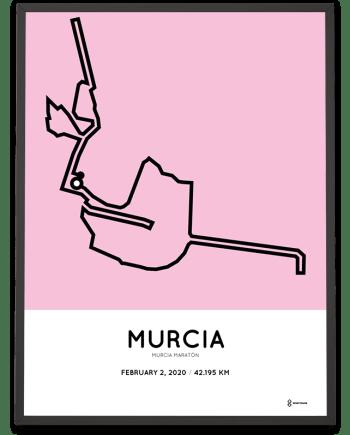 2020 Murcia maraton course poster Sportymaps