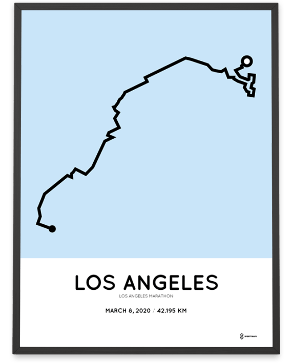 2020 Los Angeles marathon course poster