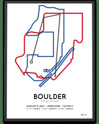 2017 Ironman 70.3 Boulder sportymaps course poster