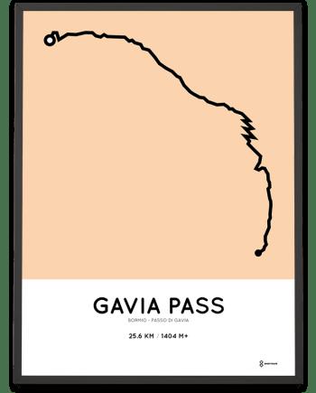 Gavia Pass course poster