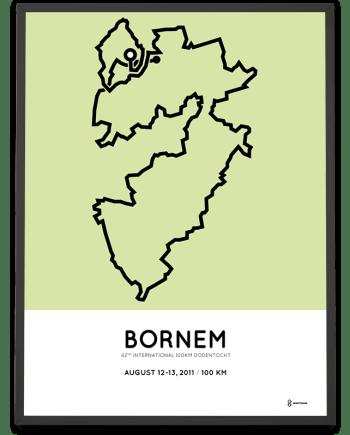 2011 100km Dodentocht kadee Bornem parcours poster